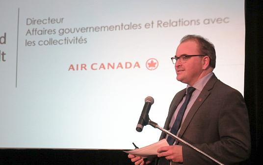 David Rheault, directeur Affaires gouvernementales et Relations avec les collectivités d'Air Canada