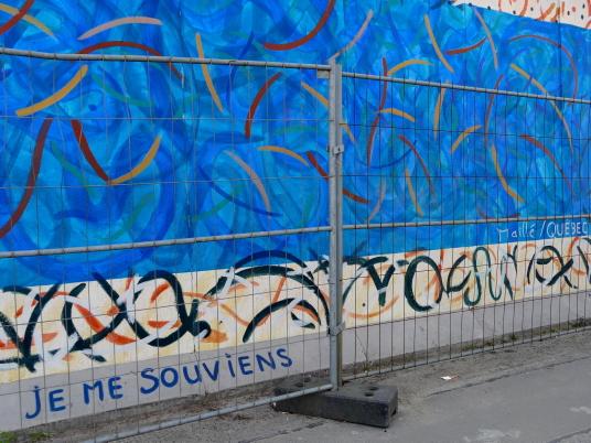 Fresque québécoise sur l'East Side Gallery