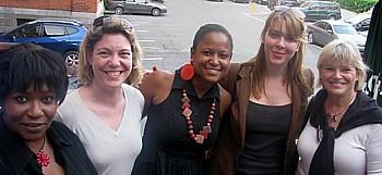 Muriel Wiltord (CMT), Armelle Tardy-Joubert (Atout France), Catherine Morellon, Caroline Dal'lin (Atout France) et  Marie Boivin de Tours Mont Royal