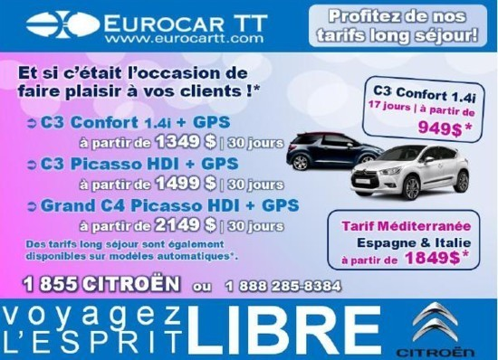 Promotions Eurocar TT pour la rentre