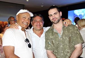 Colin Hunter, président du conseil; Sam Char directeur exécutif et Julien Char, coordonnateur aux ventes de Groupe de Voyages Sunwing