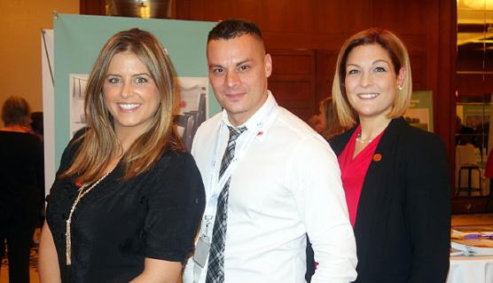 Veronica Di Ruocco, David Côté et Alexie Deschênes de VAC