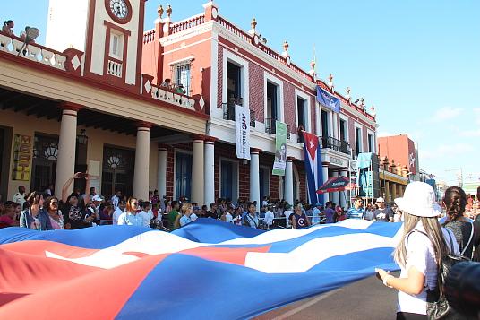 """Cette année, le FIT Cuba se déroulait au même moment que le festival populaire """"Les Romerias de Mayo"""", qui met en vedette la culture de Cuba et de certains pays invités"""