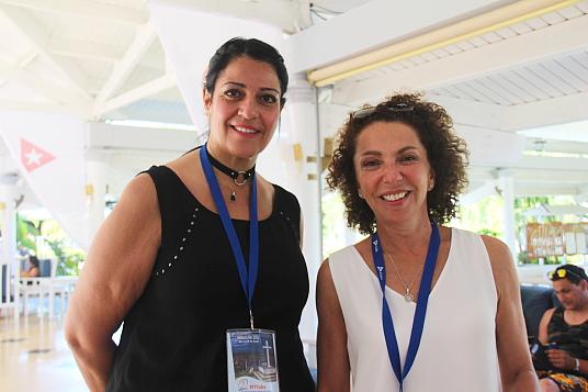 Nadia Grandinetti, acheteuse Sud et Renée Boisvert, vice-présidente produits - marché sud , chez Transat.