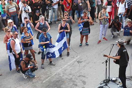 """Le groupe québécois Les Respectables étaient parmi les artistes étrangers invités aux """"Romerias de Mayo"""", à Holguin."""