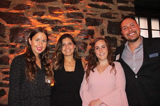 Kara Latta (LMA Communications), Melanie Perez, Directrice des relations de presse Amérique pour Choose Chicago, Katy O' Malley, Musée art contemporain de Chicago et Jerry Grymek (LMA Communications)