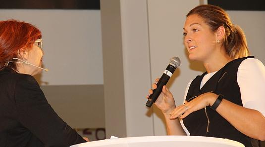 Marie-Andrée Boucher et Alexie Deschênes (d'Air Canada)