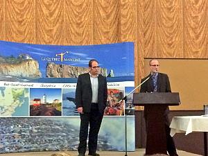 Philippe Trempe et Christian Desbiens de Tourisme Québec ©Le Québec Maritime