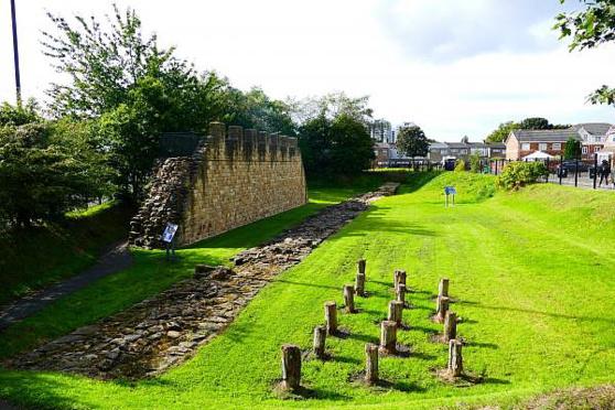 Reconstitution du mur original - Segedunum