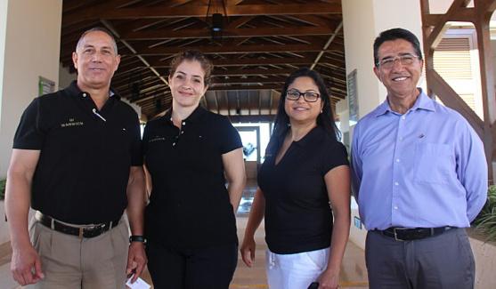 L'équipe du Warwick Cayo Santa Maria
