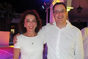 Renée Boisvert, en compagnie de Marti Aragones.