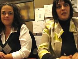 Dina Guadagno et Carla Antonios, responsables du centre d'appel de Sunwing au Québec