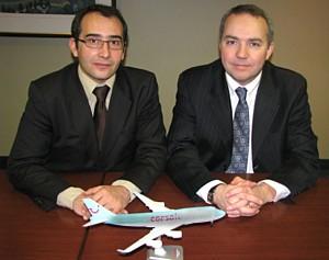 David Parlange responsable des ventes marchés extérieur et Thierry Briand, responsable ventes Canada