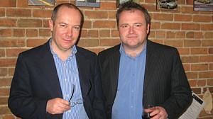 Christophe Trognon, président de Loc'appart et son associé Erwan Even président de Eurocar TT .