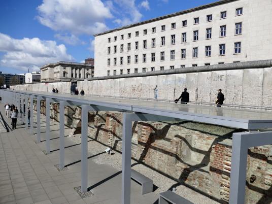 Le Mur et les fondations du QG de la Gestapo