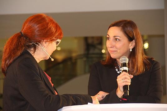 Marie-Andrée Boucher et Olivia Poncy (d'Auverge-Rhône-Alpes Tourisme)