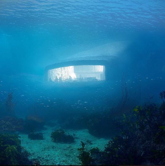 Un restaurant sous-marin en Norvège