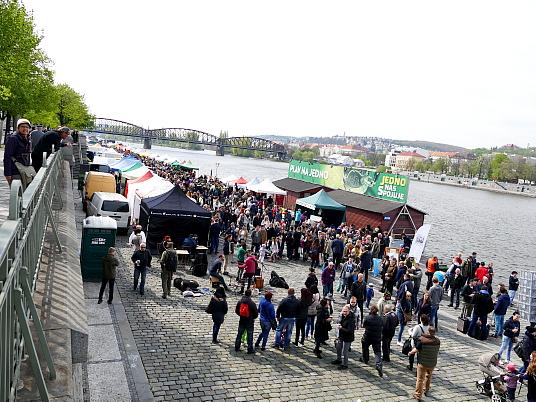 Le marché du samedi sur la Vistule