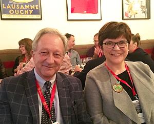 François Margot de la « Fête des Vignerons » et Elisabeth Bösch Malinen, consule générale de Suisse au Canada
