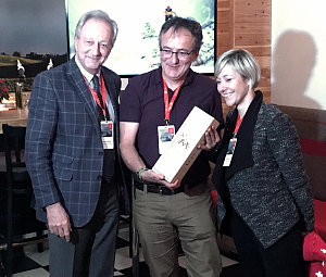 François Margot de la « Fête des Vignerons », Jacques Sennéchael, rédacteur en chef de Vélo Québec et Virginie Baeriswyl Koulibaly