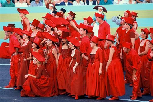 Le Choeur Rouge à la Fête des Vignerons édition 1999