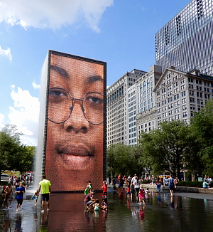 Crown Fountain au Millenium Park