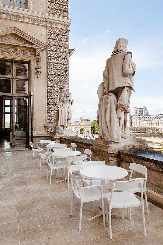 La terrasse du Café Mollien au Musée du Louvre