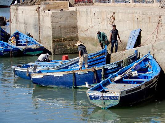Dans le port d'Essaouira