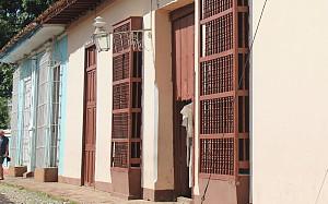 les fenêtres de Trinidad, en forme de corbeilles