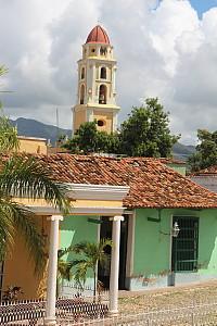 La vieille partie de Trinidad, avec ses couleurs pastels et ses rues en pavés.