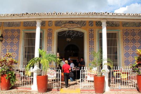 Un des nombreux restaurants de Trinidad