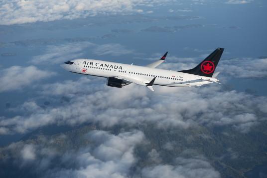Le 737MAX de Boeing dans les couleurs d'Air Canada. (Groupe CNW/Air Canada)