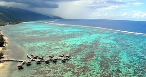 Les pilotis au Mériden Tahiti