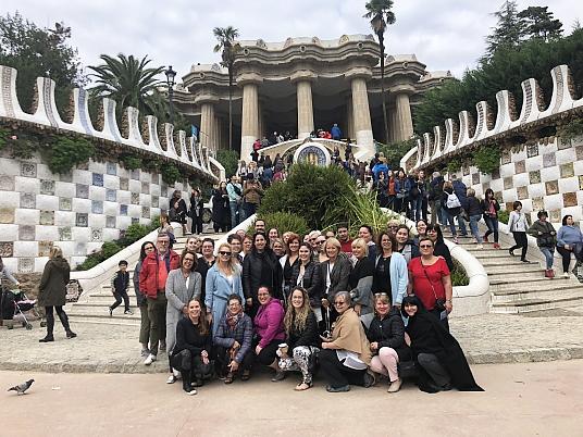 Le groupe à Barcelone