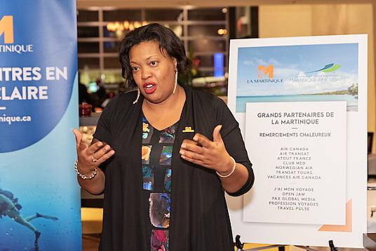 Diane Montrose élue de la Collectivité territoriale de la Martinique et présidente de la commission promotion du Comité Martiniquais du Tourisme. crédit photo : cmt-David Giral