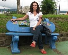 Patricia perez dans le village de Sarchi au Costa Rica