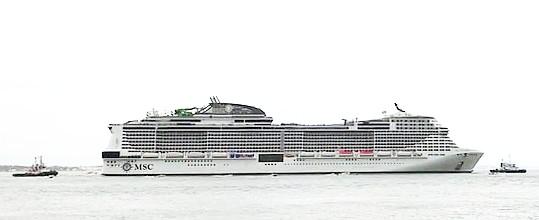 Première sortie en mer pour le MSC Grandiosa