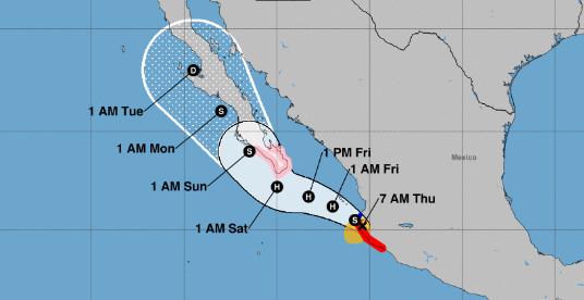 La tempête Lorena se mue en ouragan