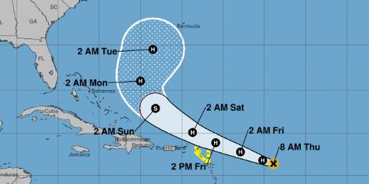 Une dépression tropicale évolue dans l'Atlantique