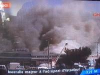 Incendie majeur à l'aéroport d'Istamboul.