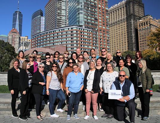 Voyage de familiarisation exclusif à TDC : Un groupe de conseillers à la découverte de New York