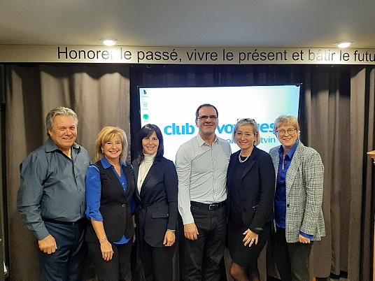 Gilles Bouffard, Raymonde Potvin, Colette Girard (TDC), Jean Baraby, Sophie Ares et Danielle Durocher (TDC)