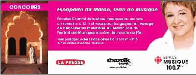 Concours sur le Maroc à la radio de Radio-Canada