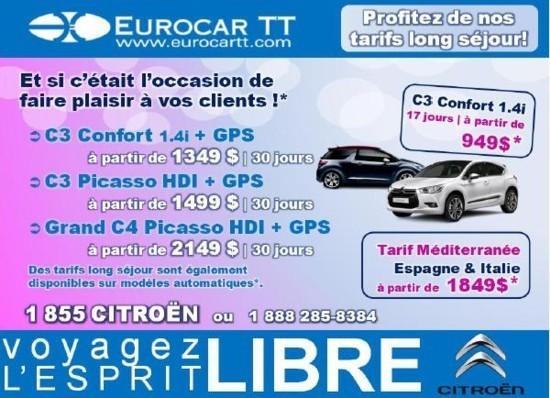 Promotions Eurocar TT pour la rentrée