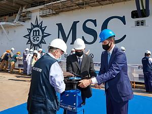 MSC Croisières et Fincantieri célèbrent la mise à flot du MSC Seashore