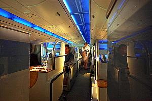 La classe Affaires de l'Airbus A 380 d'Emirates.