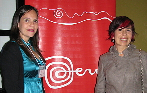 Claudia Zakrzewski spécialiste du marché et Elisabeth Akim responsable du marché nord-américain de Promperu