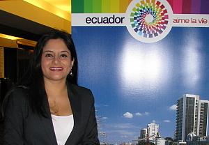 Alejandra Zea R. directrice de marchés au ministère du tourisme de la République d'Équateur.
