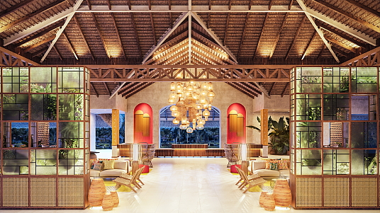 Le lobby du Tropical Deluxe Princess