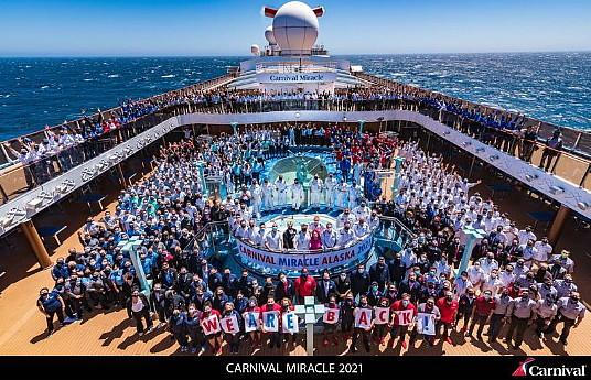 Carnival Cruise Line de retour en Alaska